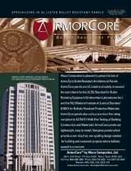 ArmorCore™ by Waco Composites, Ltd. Waco Composites is ...