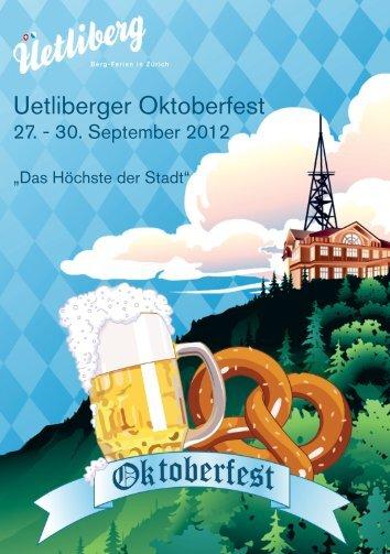 Oktoberfest Flyer - Uto Kulm