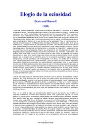 Bertrand Russell Elogio De La Ociosidad Pdf