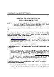 ADENDO No. 1 AL PLIEGO DE CONDICIONES INVITACION ... - Cens