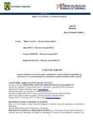 Aprob, Ministru CAIET DE SARCINI - Ministerul Dezvoltarii ...