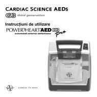 Instrucţiuni de utilizare - Cardiac Science
