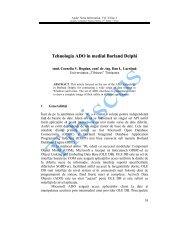Tehnologia ADO în mediul Borland Delphi - Annals. Computer ...