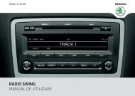 RADIO SWING MANUAL DE UTILIZARE - Media Portal - škoda auto