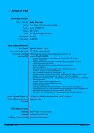 Curriculum vitae Europass - Universitatea Petrol - Gaze din Ploiesti