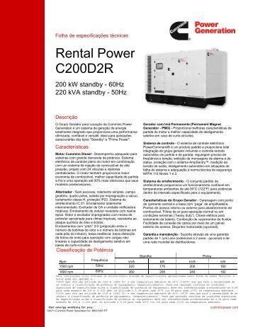 Rental Power C200D2R - Cummins Power Generation