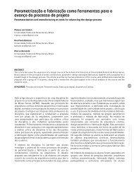 Parametrização e fabricação como ferramentas para o avanço do ...