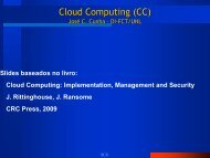 Cloud Computing (CC) - Arquitectura de Sistemas Computacionais