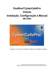 OneRoof CyberCafePro Cliente Instalação, Configuração e Manual ...