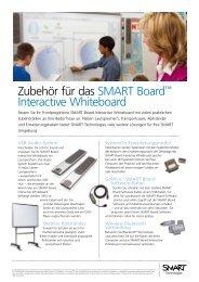 Zubehör für das SMART Board™ Interactive ... - UBit Schweiz