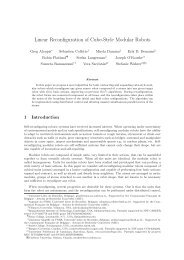 Linear Reconfiguration of Cube-Style Modular Robots - Erik Demaine