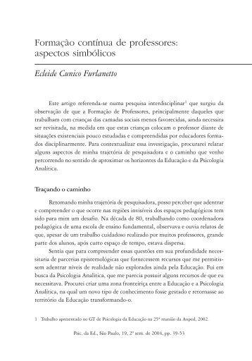 aspectos simbólicos Ecleide Cunico Furlanetto - PePSIC
