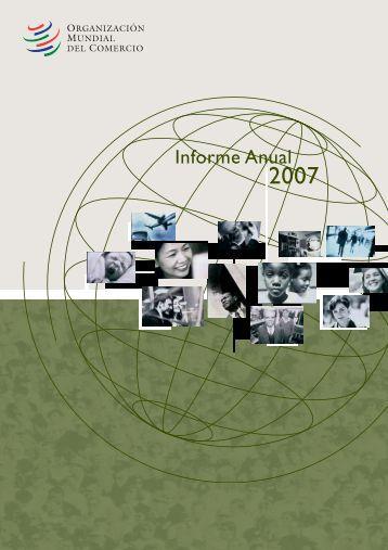 Informe anual de la OMC 2007 - Inforural