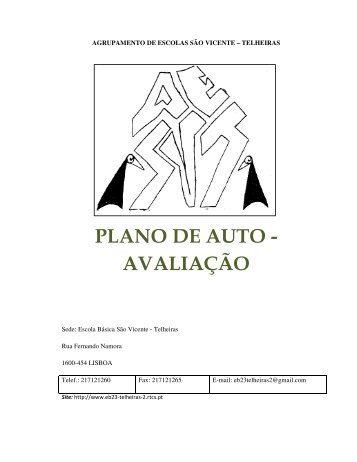 plano de auto - avaliação - Agrupamento de Escolas de São Vicente ...