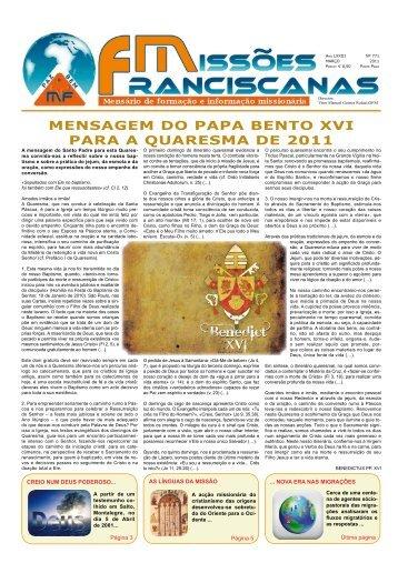 Edição Março 2011 - Uniao-missionaria-franciscana.org