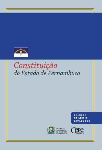 constituição do estado de pernambuco - CEPE - Companhia Editora ...