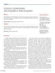 óleos e gorduras: aplicações e implicações - Revista Analytica