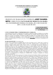 proposta de trabalho do candidato josé tavares - Faculdade de ...