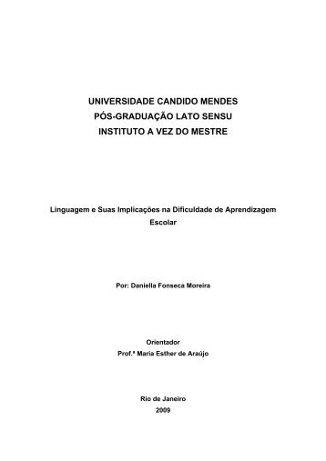 linguagem - AVM Faculdade Integrada