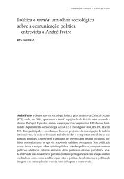 entrevista a André Freire - Revista Comunicação e Cultura