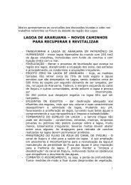 LAGOA DE ARARUAMA – NOVOS CAMINHOS PARA ...