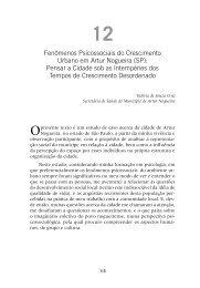 Fenômenos Psicossociais do Crescimento Urbano em Artur Nogueira