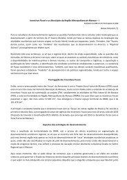 Incentivos Fiscais e os Municípios da Região Metropolitana ... - Seplan