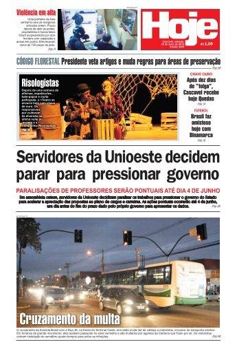 Servidores da Unioeste decidem parar para ... - Jornal Hoje