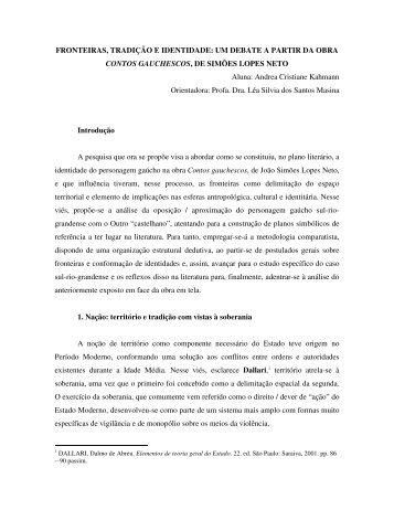 FRONTEIRAS, TRADIÇÃO E IDENTIDADE - Instituto Gaúcho de ...