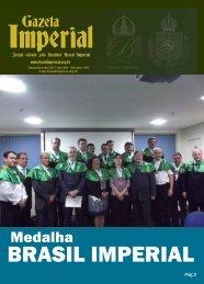 Gazeta Medalha - Brasil Imperial