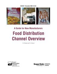 Food Distribution Channel Overview - ScholarsArchive at Oregon ...