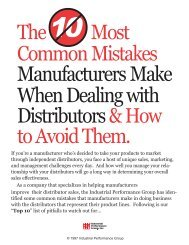 The Most Common Mistakes Manufacturers Make When Dealing ...