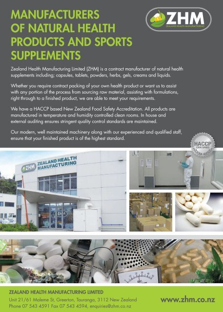manufacturers of natural health products and sports