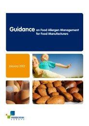 Guidance on Food Allergen Management for Food Manufacturers