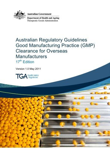 Guidance on the GMP clearance of overseas medicine manufacturers
