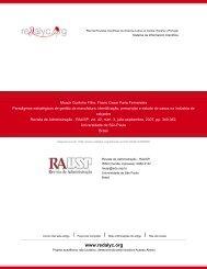 Redalyc.Paradigmas estratégicos de gestão da manufatura ...