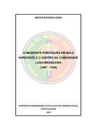 O imigrante português em Belo Horizonte eo Centro - Coordenação ...