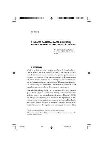 Capítulo 4 - O impacto da liberalização comercial sobre - Ipea
