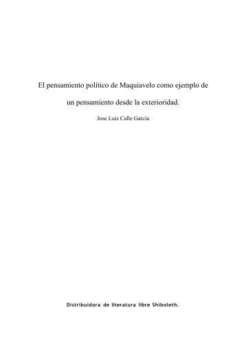 El pensamiento político de Maquiavelo como ejemplo de ... - Nodo 50
