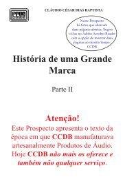 Historia de uma Grande Marca - Parte II - CCDB