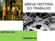 BREVE HISTÓRIA DO TRABALHO - Prof.Petterson