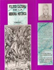 Política cultural de la memoria histórica - Institute for the Study of ...