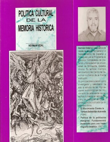 Política cultural de la memoria histórica - Institute for the Study of ...