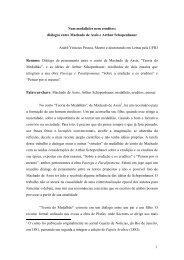 Nem medalhões nem eruditos- diálogos entre Machado de