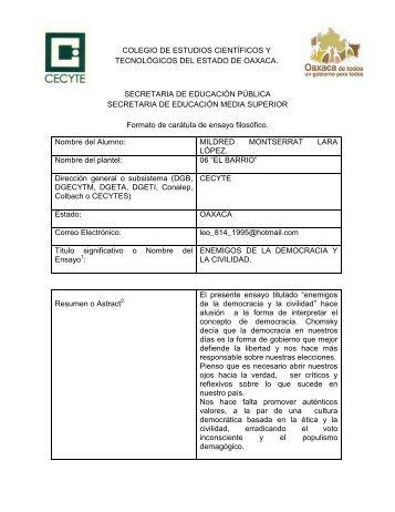 colegio de estudios científicos y tecnológicos del estado de oaxaca ...