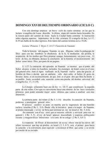 domingo xxviii del tiempo ordinario del ( ciclo c) - Homiletica.org