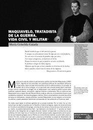 maquiavelo, tratadista de la guerra. vida civil y militar ... - Centro Naval