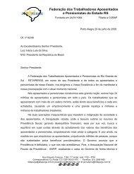carta da fetapergs ao presidente