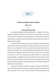 CUANDO UNA PALABRA ROMPE EL SILENCIO - Diego Levis