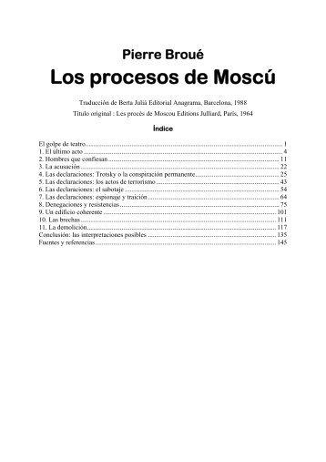 Los procesos de Moscú - Marxistarkiv